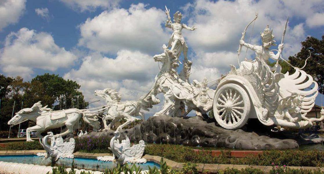 Ghatotkacha Statue in Bali