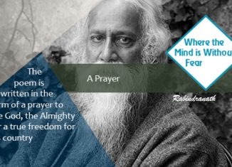 Rabindranath Tagore's Poem 'Prarthana' (Prayer) from the book Naibedya (Offering)