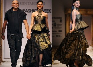 Deepika Padukone for Tarun Tahiliani at Delhi Fashion Week