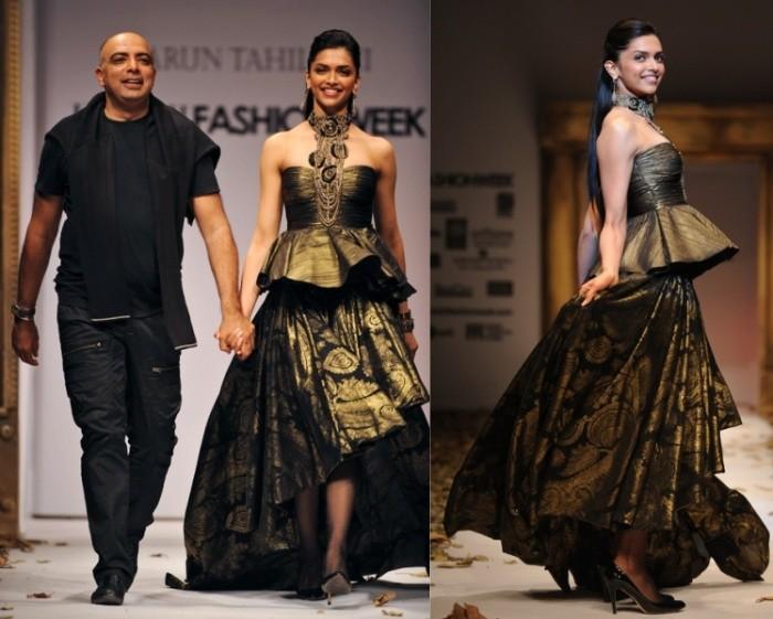 Deepika Padukone for Tarun Tahiliani at Delhi Fashion Week