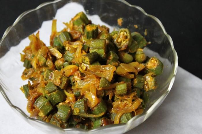 Bhindi Subji, delicious indian food recipe