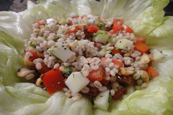 Barley Crunchy Nut Salad