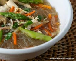 beanthread noodle soup with chicken