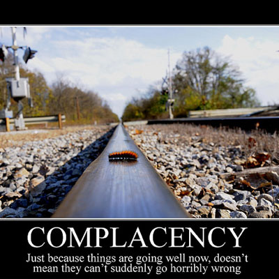 Why complacency takes you backwards + the solution