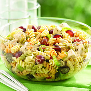 curried pasta chicken and grapes