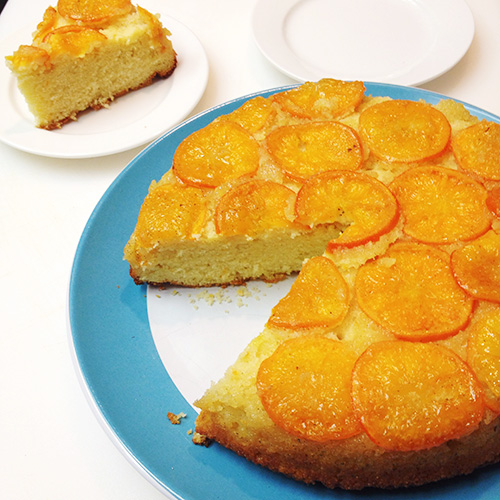 Orange Upside - Down Cheesecake