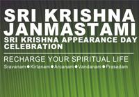 Celebrate Sri Krsna Janamashtami at ISKON Temple Puncak on 5th Sept
