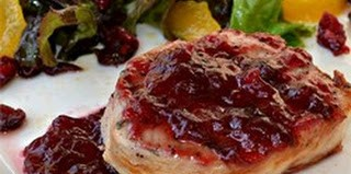 tangy pork chops cranberry sauce