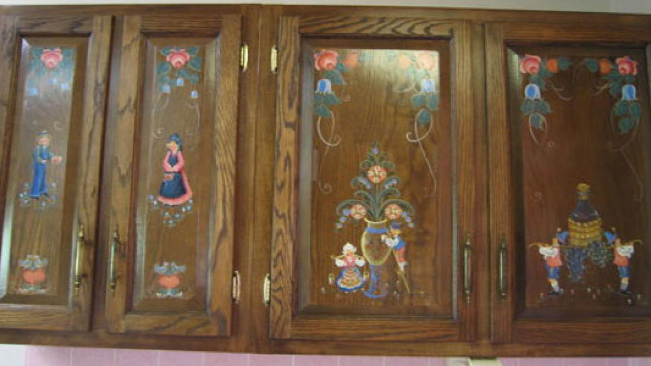 How To  Decoupage Your Cabinet Doors , Indoindians.com