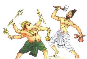 Lord Ganesha and Parshuram