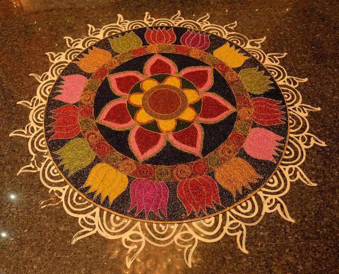 Rangoli with beads