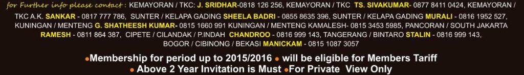 Contact details for tickets