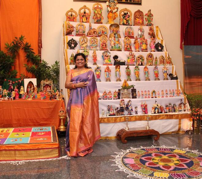 Shanthi Sheshadhari with her Golu