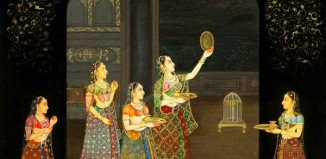 Karwa Chauth Indian Miniature painting