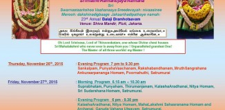 Jakarta Lord Balaji 23rd Annual Brahmotsavam at Pluit temple