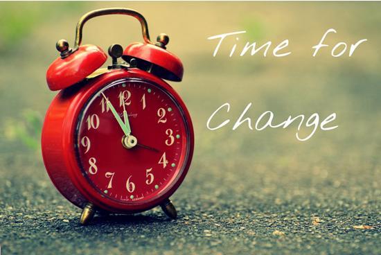 Make time for change
