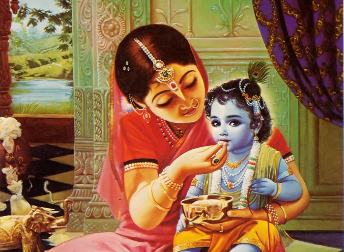 Baby Krishna With Yashoda