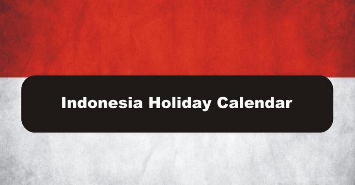 2016 Indonesia Public Holiday Calendar