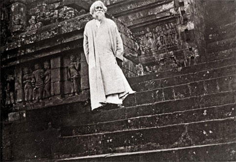 Rabindranath Tagore at Borobudur Temple, Central Java