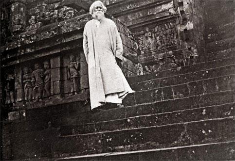 Rabindranath Tagore at Borobudur Temple, Central Java