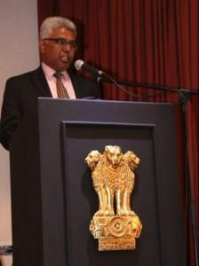 Delivering the keynote address, Mr. Manish, Charge d'Affaires