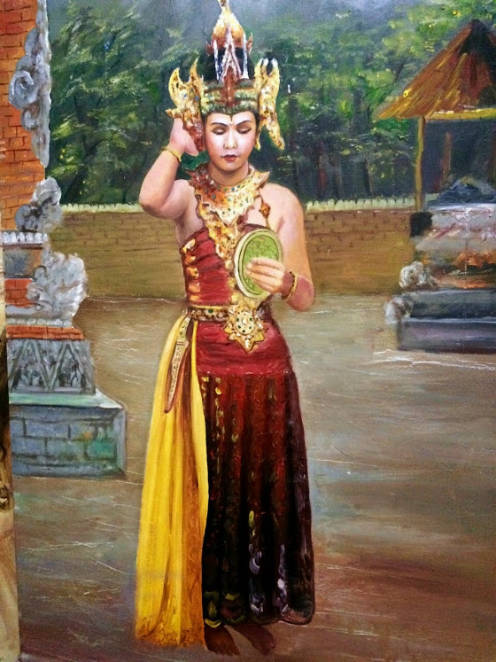Balinese Dancer - painting by Vijay Laxmi Birla