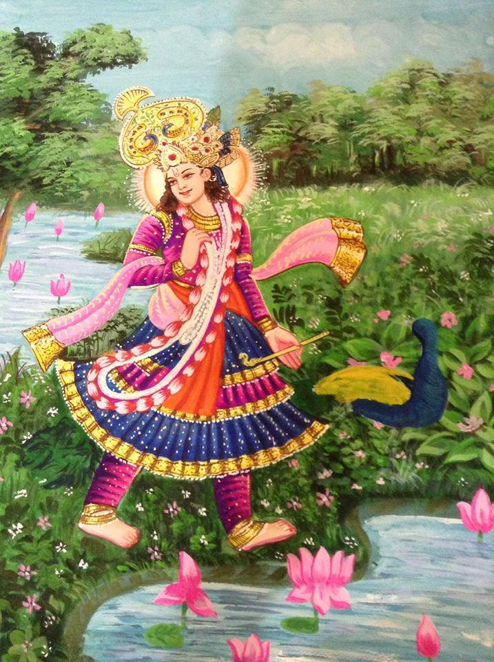 Krishna - painting by Vijay Laxmi Birla