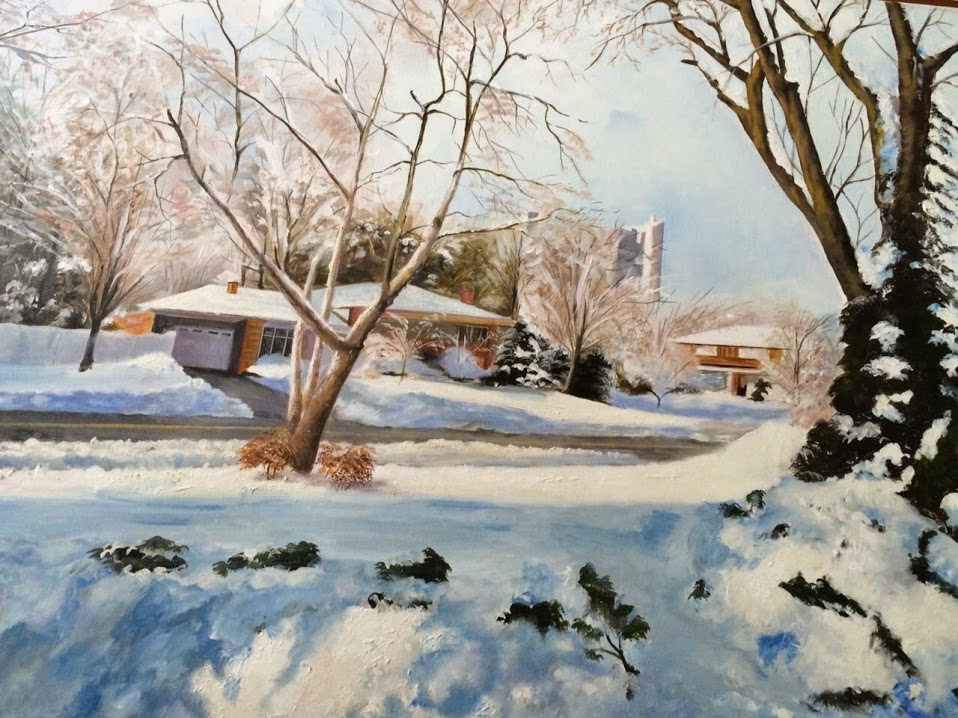 snow - painting by Vijay Laxmi Birla