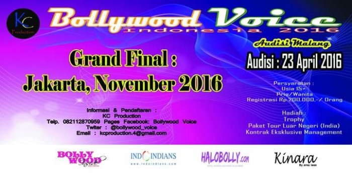 Bollywood Voice Indonesia Contest