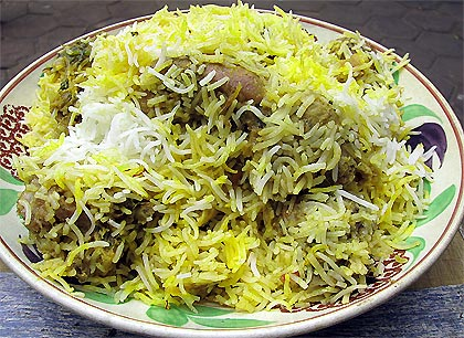 Green Chicken Biryani Recipe