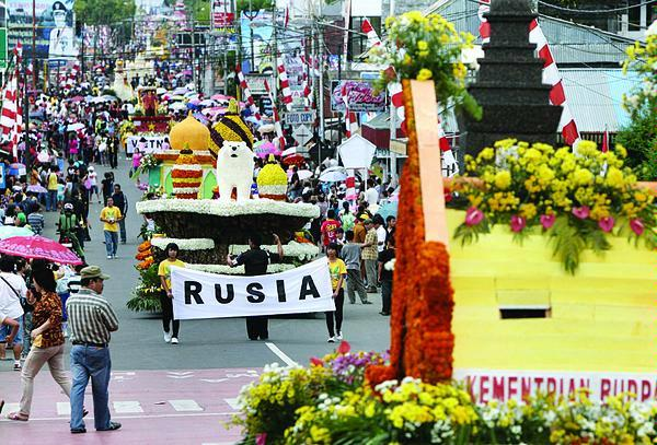 Parade on Tomohon Flower Festival