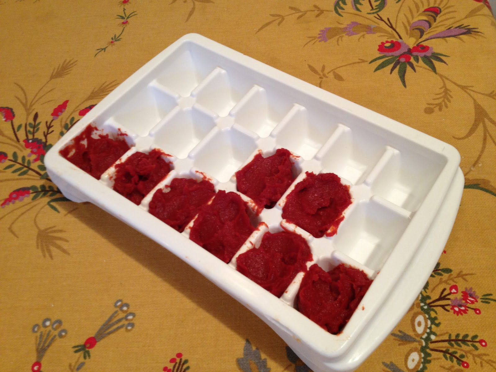 Freeze leftover tomato paste