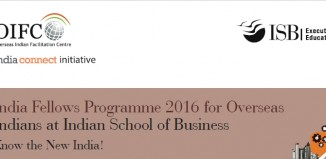 India Connect Initiative of Overseas Indian Facilitation Centre(OIFC) - India Fellows Programme 2016 for Overseas Indians at Indian School of Business, Hyderabad.