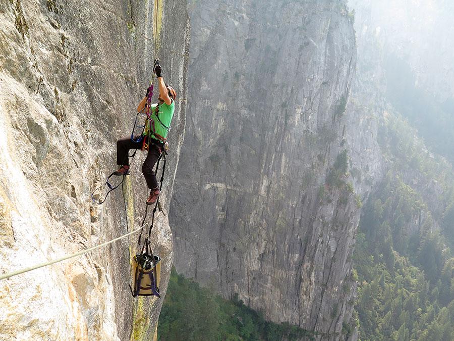 Rock climbing Harau valley