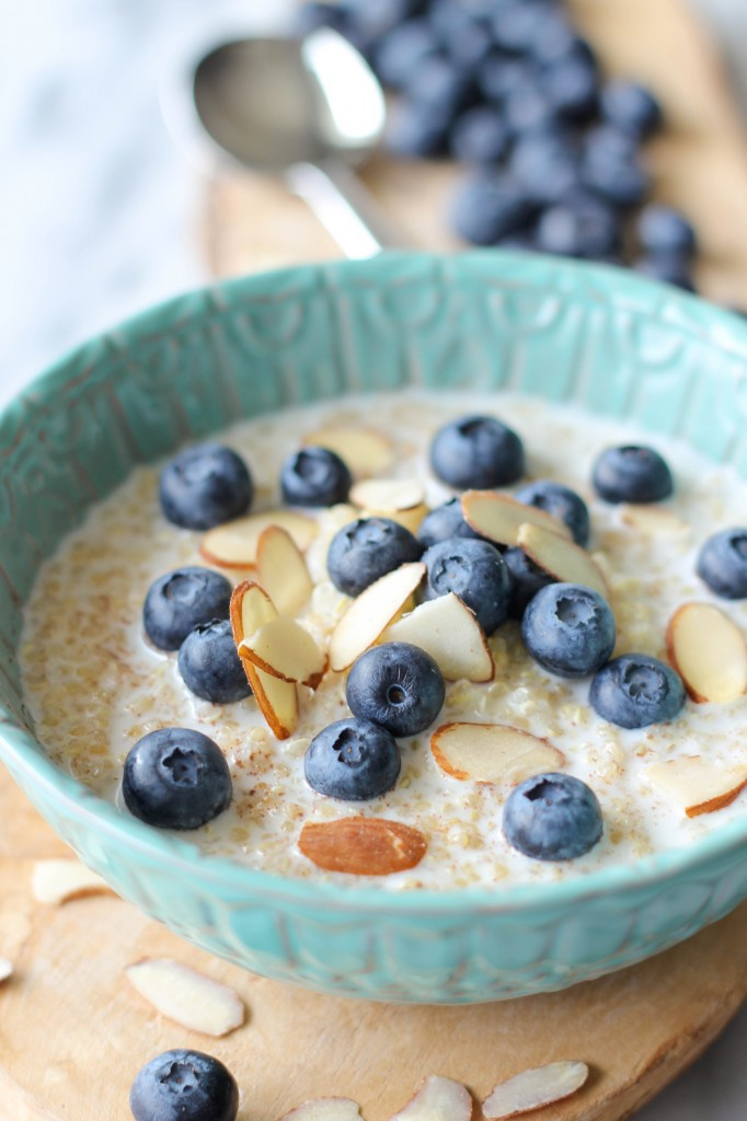 Blueberry breakfast quinoa