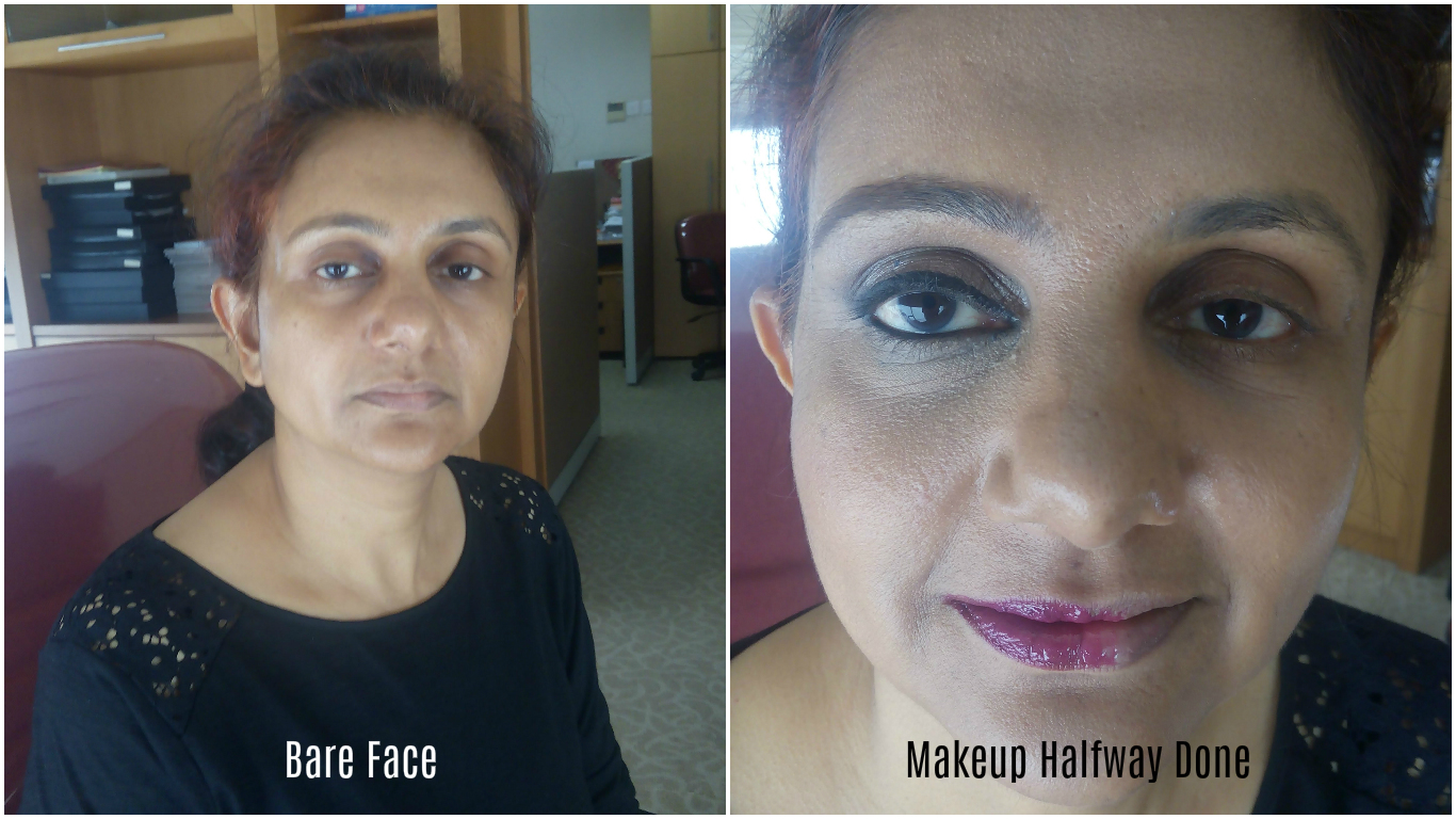 See the difference of Neeta's skin tone before and after makeup