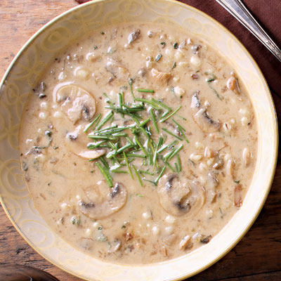 Cream of Mushroom and Barley Soup Recipe
