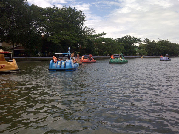 Water entertainment facility (duck boat) at Setu Babakan