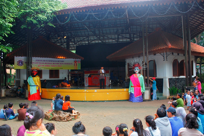 One of the cultural performances at Setu Babakan