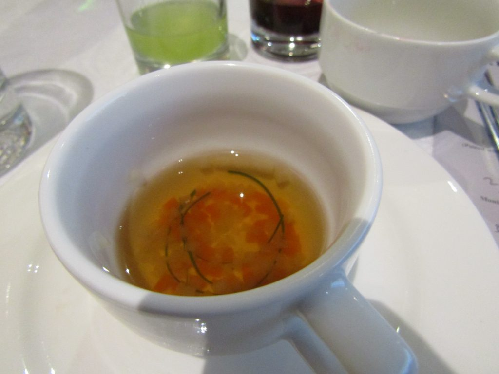 Chicken Consomme Infused with Lapsang Souchong