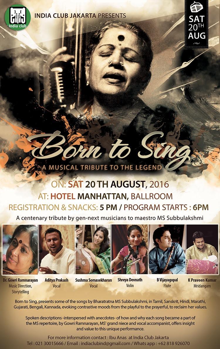 Born to Sing - a tribute to the legend, Maestro MS Subbulakshmi