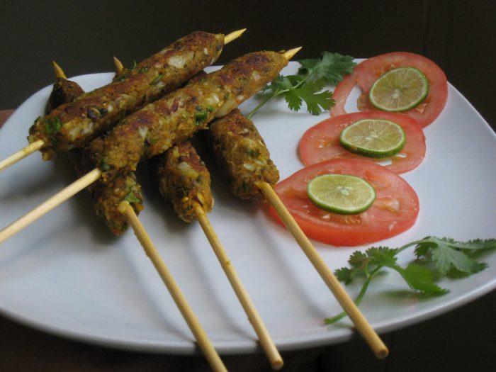 Vegetarian Gulnaar Sheekh Kebab by Shabana Akbany