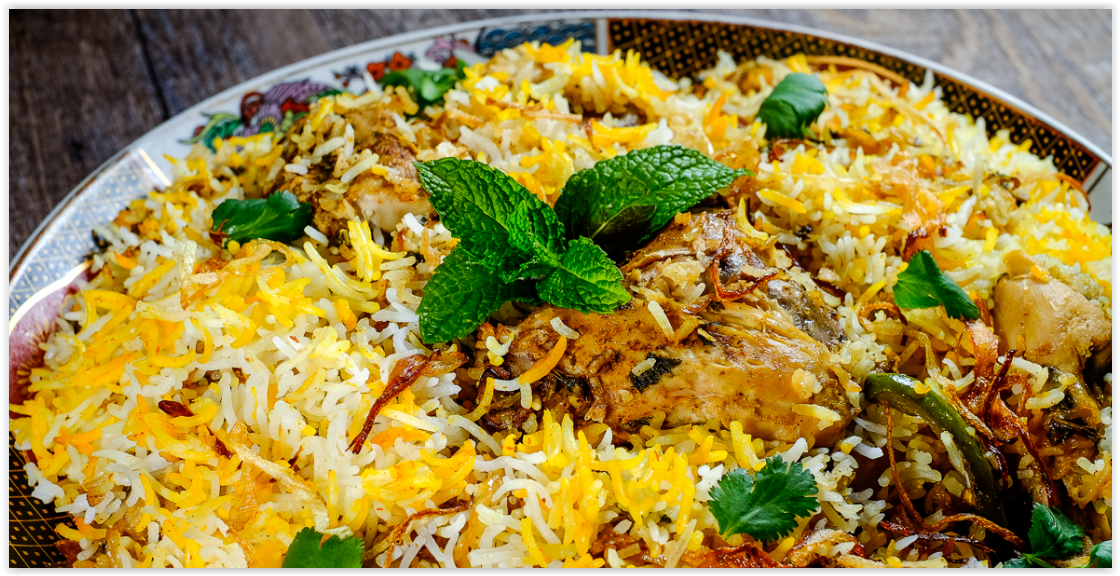 Hyderabadi Chicken Biryani by Shabana Akbany