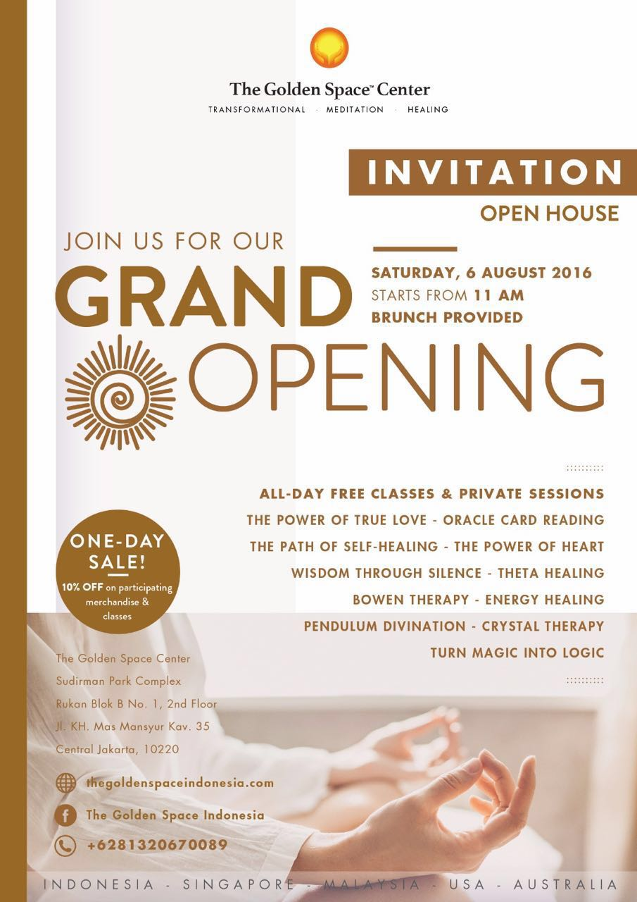 The Golden Space Indonesia - Grand Opening - 6 August 2016