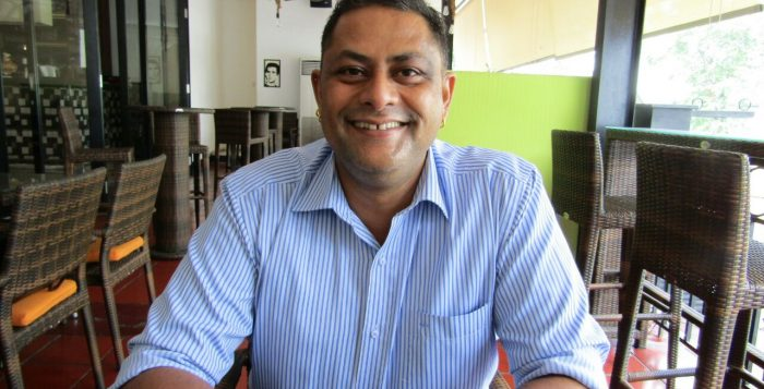 Firdos Dupattawala, the Owner of D'Bollywood Restaurant Jakarta