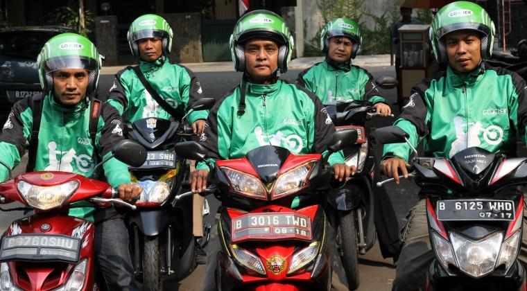 Ojek online in Jakarta