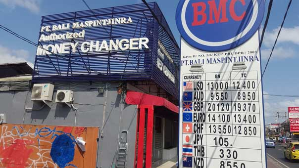 BMC is one of the trusted money changer companies in Bali