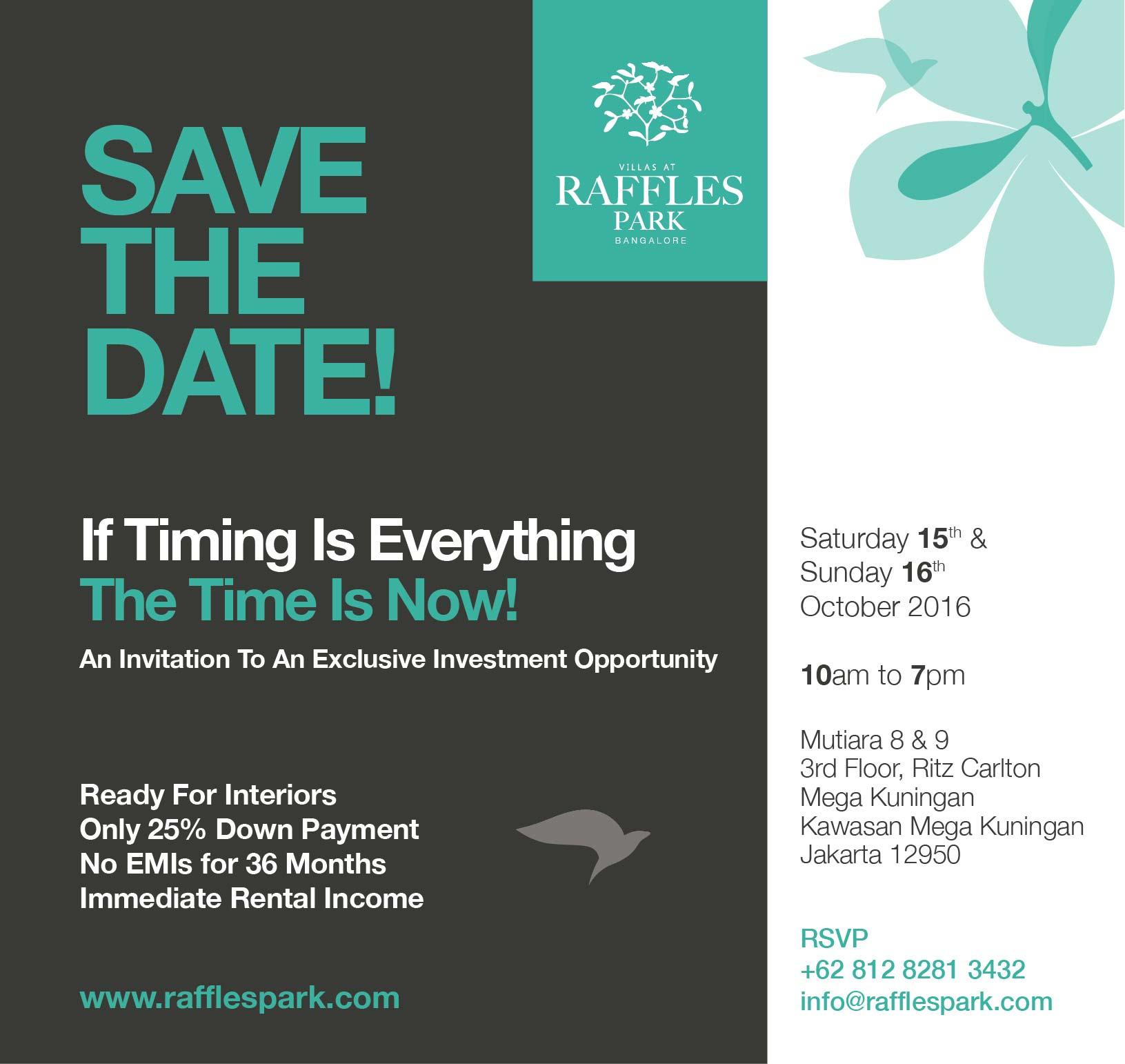 Raffle Park Bangalore - Save the Date JAKARTA