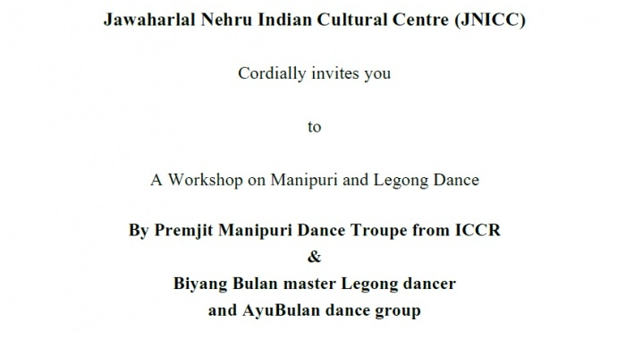Workshop on Manipuri & Legong Dance