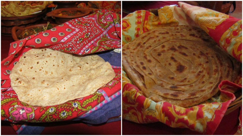Plain Chapati and Tawa Paratha